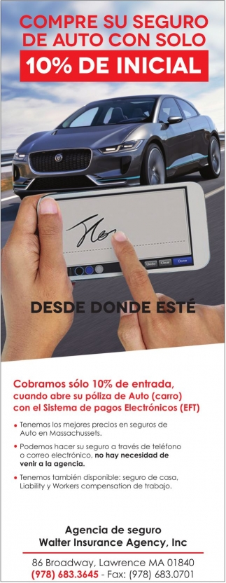 Compre su seguro de auto con solo 10% de inicial