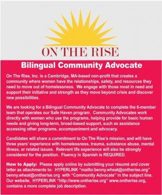 Bilingual Community Advocate